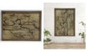 TX USA Corporation Rectangle Wall Art Brown