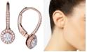 Macy's Diamond Halo Dangle Earrings (1/4 ct. t.w.) in 14k Rose Gold