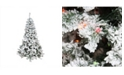 Northlight 9' Pre-Lit Heavily Flocked Pine Medium Artificial Christmas Tree - Multi Lights