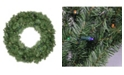 """Northlight 36""""  Pre-Lit LED Canadian Pine Artificial Christmas Wreath - Multi Lights"""