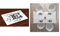 Ambesonne Letter E Place Mats, Set of 4