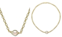 """Macy's Cultured White South Sea Baroque Pearl (11mm) 19"""" Pendant Necklace in 18k Gold-Plated Sterling Silver"""