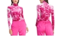 RACHEL Rachel Roy Val Tie-Dyed Turtleneck Top