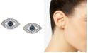 Wrapped Diamond Evil Eye Stud Earrings (1/8 ct. t.w.) in 14k White Gold, Created for Macy's