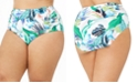 La Blanca Plus Size In the Moment Printed High-Waist Bottom