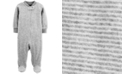 Carter's Baby Boys & Girls Striped Velour Footed Coverall
