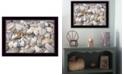 "Trendy Decor 4U Starfish and Seashell By Lori Deiter, Printed Wall Art, Ready to hang, Black Frame, 20"" x 14"""