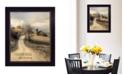 "Trendy Decor 4U Country Road Take Me Home by Lori Deiter, Ready to hang Framed Print, Black Frame, 21"" x 27"""
