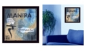 "Trendy Decor 4U Yoga Series - Mantra By Debbie DeWitt, Printed Wall Art, Ready to hang, Black Frame, 14"" x 14"""
