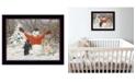"Trendy Decor 4U Buddies by Bonnie Mohr, Ready to hang Framed Print, Black Frame, 18"" x 14"""