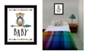 "Trendy Decor 4U Owl Baby By Susan Boyer, Printed Wall Art, Ready to hang, Black Frame, 14"" x 18"""