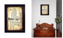 """Trendy Decor 4U Mother Says By Susan Ball, Printed Wall Art, Ready to hang, Black Frame, 14"""" x 10"""""""