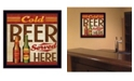 """Trendy Decor 4U Trendy Decor 4U Cold Beer Served Here By Mollie B., Printed Wall Art, Ready to hang, Black Frame, 14"""" x 14"""""""