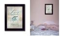 "Trendy Decor 4U Single Soul I By Mollie B., Printed Wall Art, Ready to hang, Black Frame, 14"" x 10"""