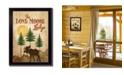 "Trendy Decor 4U Trendy Decor 4U Lone Moose By Mollie B., Printed Wall Art, Ready to hang, Black Frame, 10"" x 14"""