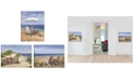 "Trendy Decor 4U Sand Beach Designs 3-Piece Vignette by Opportunities, Gallery Wrap Canvas, 16"" x 12"""