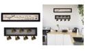 "Trendy Decor 4U The Kitchen Vignette 2-Piece Vignette with 7-Peg Mug Rack by Millwork Engineering, Black Frame, 32"" x 7"""