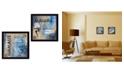 "Trendy Decor 4U Yoga II Collection By Debbie DeWitt, Printed Wall Art, Ready to hang, Black Frame, 28"" x 14"""