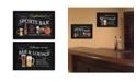 "Trendy Decor 4U Sports Bar Collection By Debbie DeWitt, Printed Wall Art, Ready to hang, Black Frame, 40"" x 14"""