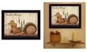 "Trendy Decor 4U Farmhouse Blessings By SUSAn Boyer, Printed Wall Art, Ready to hang, Black Frame, 18"" x 14"""