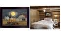 "Trendy Decor 4U Spooky Harvest Moon by Billy Jacobs, Ready to hang Framed Print, Black Frame, 18"" x 14"""