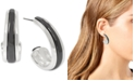 """Robert Lee Morris Soho Medium Two-Tone Sculptural Open Hoop Earrings 1-1/4"""""""