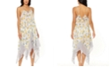 Jessica Simpson Nice Lemons Printed Lace-Up Swim Cover-Up Dress