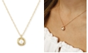 Macy's Love Knot Pearl (5 mm) Necklace Set in 14k Gold