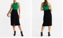 MANGO Buckle Wrap Skirt