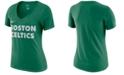 Nike Women's Boston Celtics Dri-Fit V-neck T-Shirt