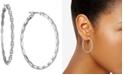 "Givenchy Pavé Medium Scalloped Hoop Earrings, 1.41"""