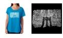 LA Pop Art Women's Dolman Cut Word Art Shirt - Brooklyn Bridge