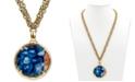 "Patricia Nash Leather Inset 28"" Pendant Necklace"