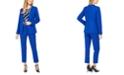 Calvin Klein Petite Collarless Blazer, Animal-Print Top & Straight-Leg Ankle Pants