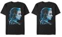 Marvel Men's Avengers Endgame Black Widow Side View Silhouette, Short Sleeve T-shirt