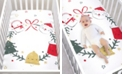 Trend Lab Jolly Wreath Flannel Photo Op Crib Sheet
