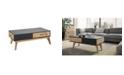 Manhattan Comfort Mid-Century Modern 2-Drawer Jackie 2.0 Coffee Table