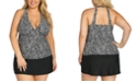 Island Escape Trendy Plus Size Tankini Top & Bottoms, Created for Macy's