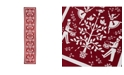 SKL Home Christmas Carol Table Runner in Red
