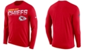 Nike Men's Kansas City Chiefs Sideline Legend Line of Scrimmage Long Sleeve T-Shirt
