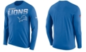 Nike Men's Detroit Lions Sideline Legend Line of Scrimmage Long Sleeve T-Shirt