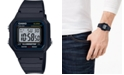 Casio Unisex Digital Black Resin Strap Watch 41.2mm