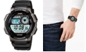 Casio Men's Digital Black Resin Strap Watch 43.7mm