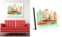 """Creative Gallery Gracht In Amsterdam in Orange Abstract 24"""" x 36"""" Acrylic Wall Art Print"""
