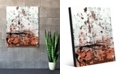 """Creative Gallery Rust Speckled Wall in Light Red Abstract 16"""" x 20"""" Acrylic Wall Art Print"""