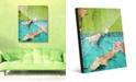 "Creative Gallery Duality Grunge Green Teal Abstract 20"" x 24"" Acrylic Wall Art Print"