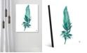 "Creative Gallery Seafoam Feather on White 20"" x 24"" Acrylic Wall Art Print"