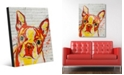 "Creative Gallery Boston Terrier Graffiti in Orange Yellow 20"" x 24"" Acrylic Wall Art Print"