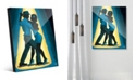 Creative Gallery Spotlight Couple Dancing in Blue Acrylic Wall Art Print Collection