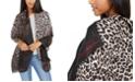 Calvin Klein Diagonal-Ombré Leopard-Print Scarf